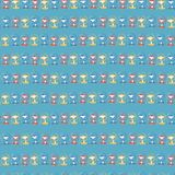 Monkeys in a row blue red yellow seamless pattern royalty free illustration