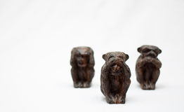 Monkeys statues Royalty Free Stock Photo