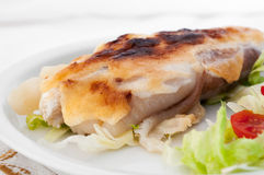 Monkfish with garlic mousseline Royalty Free Stock Photos