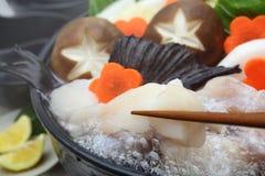 Monkfish Hete Pot, Japans voedsel Stock Foto