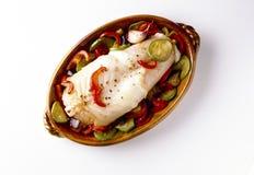 Monkfish met ratatouille Royalty-vrije Stock Fotografie