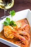 Monkfish with prawn Stock Images