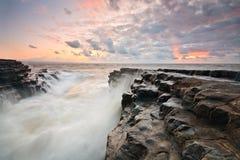 Monknash海滩,威尔士,英国。 库存照片