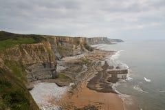 Monknash海滩,威尔士,英国 免版税库存图片