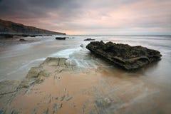 Monknash海滩,威尔士,英国 免版税库存照片