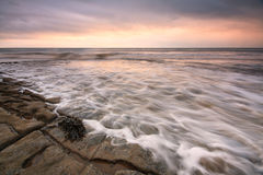 Monknash海滩,威尔士,英国 免版税图库摄影