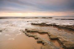 Monknash海滩,威尔士,英国 库存照片