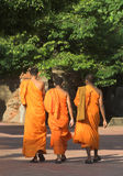Monks. Thai monks with orange robes Stock Photos