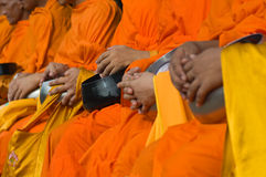Monks in action Stock Photos