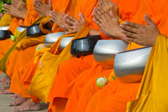 Monks in action Royalty Free Stock Images