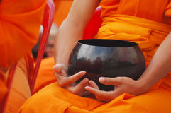 Monk's alms bowl Stock Photo