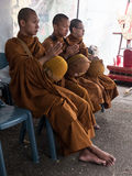 Monks Alms Ceremony, Thailand Royalty Free Stock Images