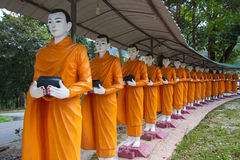 Monks alms round Royalty Free Stock Photography