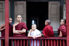 Monks in Amarapura, Myanmar Stock Photos