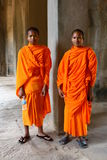 Monks in Angkor Wat Royalty Free Stock Image