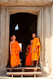 Monks in Angkor Wat, Cambodia Stock Photography