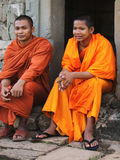 Monks in Angkor Wat, Cambodia Stock Photos