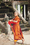 Monks in the Angkor Wat Royalty Free Stock Photography