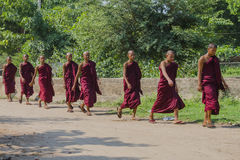monks in Bagan Myanmar Stock Photos