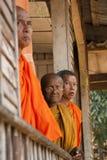 Monks at balcony royalty free stock photo