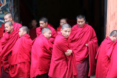 Monks, Bhutan. Young monks in a temple in Bhutan Stock Images