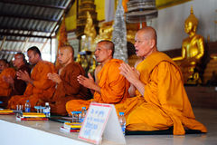 Monks in Buddhist monasteries Royalty Free Stock Photos