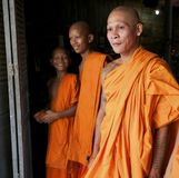 Monks in Cambodia Royalty Free Stock Images