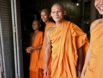 Monks in Cambodia Stock Photo