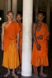 Monks in Cambodia Stock Images