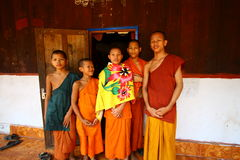 Monks in Cambodia Stock Photo