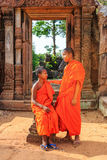 Monks, Cambodia Royalty Free Stock Photo