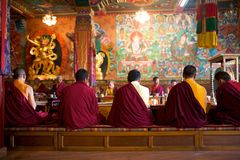 Monks in ceremony Stock Photography