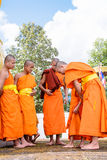 Monks clad to novices. Royalty Free Stock Images