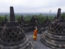 Free Monks Conduct Selfies At Borobudur Temple On The Sidelines Of Vesak Day Celebrations Stock Images - 151460044