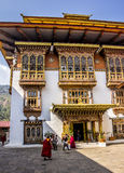Monks in the dzong Stock Photos