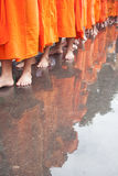 The monks feet Stock Image