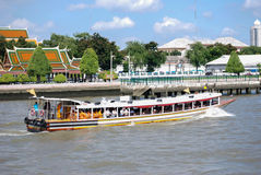 Monks on Ferry in Bangkok Royalty Free Stock Photo