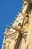Monks and gargoyles, detail from the exterior of saint Stephen's catedral at downtown of Vienna Royalty Free Stock Image