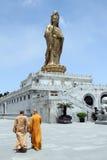 Monks and Guan Yin Royalty Free Stock Photos