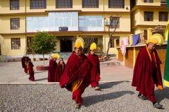 Monks of Gyuto monastery, Dharamshala, India Royalty Free Stock Images