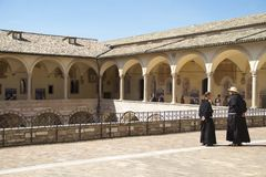 Free Monks In Assisi Italy Stock Images - 109071184