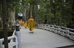 Monks at Koya-san Stock Image