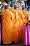 Monks in Line Royalty Free Stock Photography