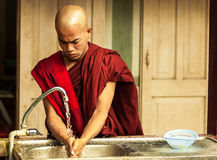 Monks live in the temple Royalty Free Stock Photography