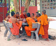 Monks On Lunch Break Royalty Free Stock Image