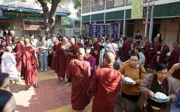 Monks at the Mahagandayon Monastery in Amarapura Myanmar Stock Image