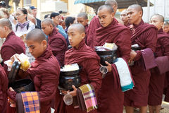 Monks at the Mahagandayon Monastery in Amarapura Myanmar Stock Images