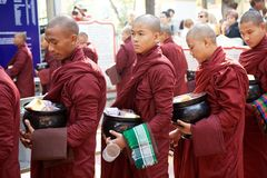 Monks at the Mahagandayon Monastery in Amarapura Myanmar Stock Image