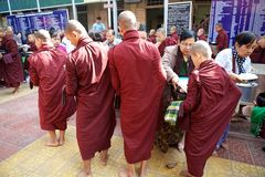Monks at the Mahagandayon Monastery in Amarapura Myanmar Royalty Free Stock Image
