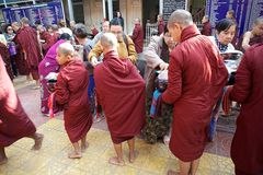 Monks at the Mahagandayon Monastery in Amarapura Myanmar Royalty Free Stock Photos